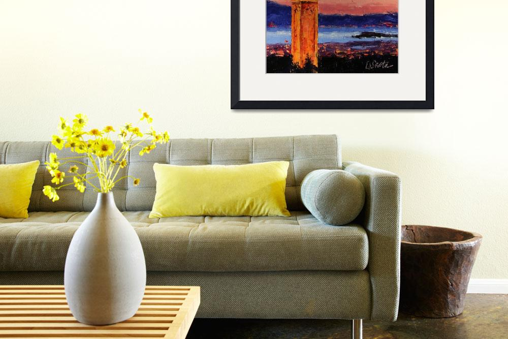 """Sunset at Berkeley""  (2011) by LeslieSaetaFineArt"