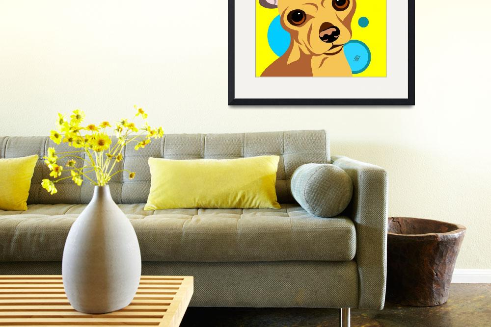 """""""Smooth Coat Chihuahua Poster&quot  by waterart"""
