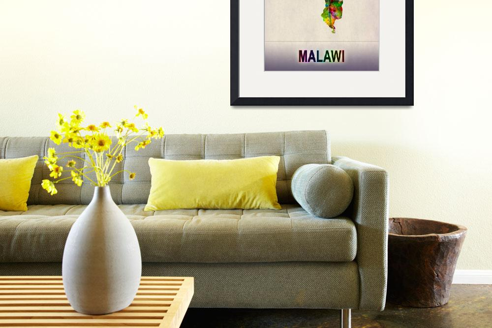 """""""Malawi Map""""  by Towseef"""