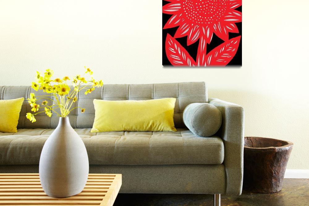 """Flower Art Framed Print&quot  by eddiealfaro"