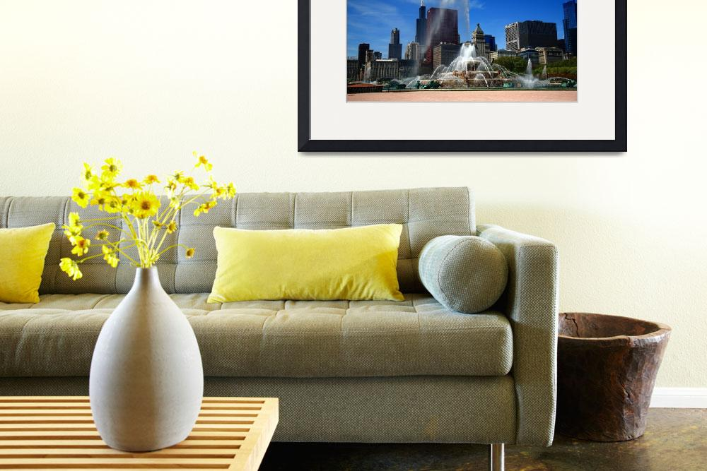 """""""Chicago Skyline and Buckingham Fountain&quot  (2010) by Ffooter"""