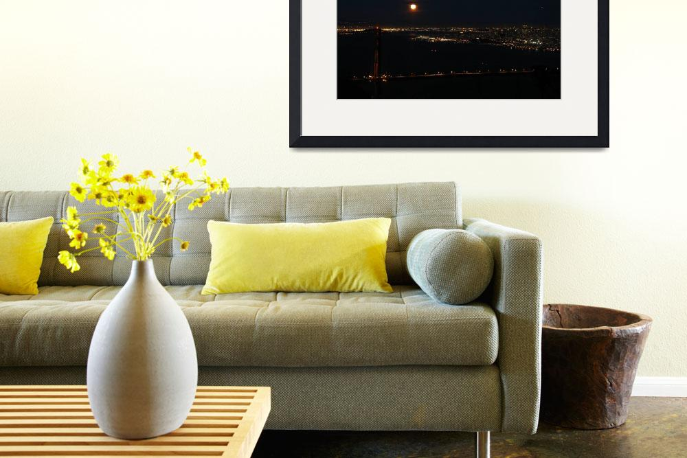 """""""Golden Gate Moonrise&quot  by myprojectlife"""