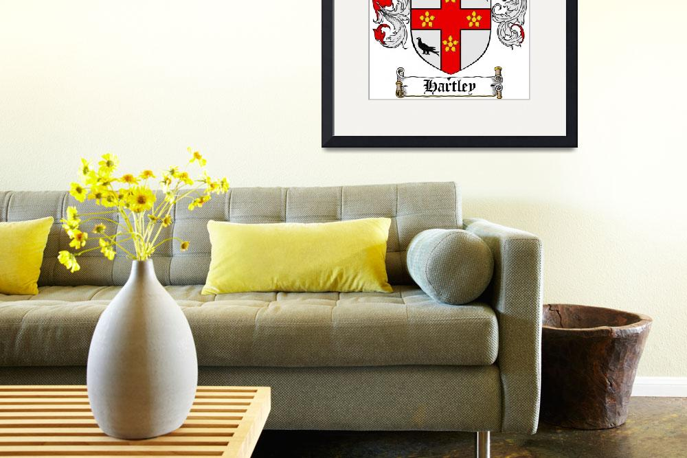 """""""HARTLEY FAMILY CREST - COAT OF ARMS&quot  by coatofarms"""