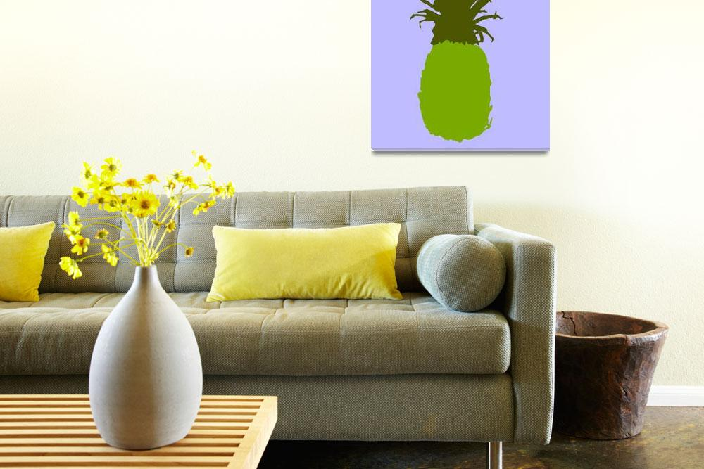 """""""Pineapple green blue (c)&quot  (2014) by edmarion"""