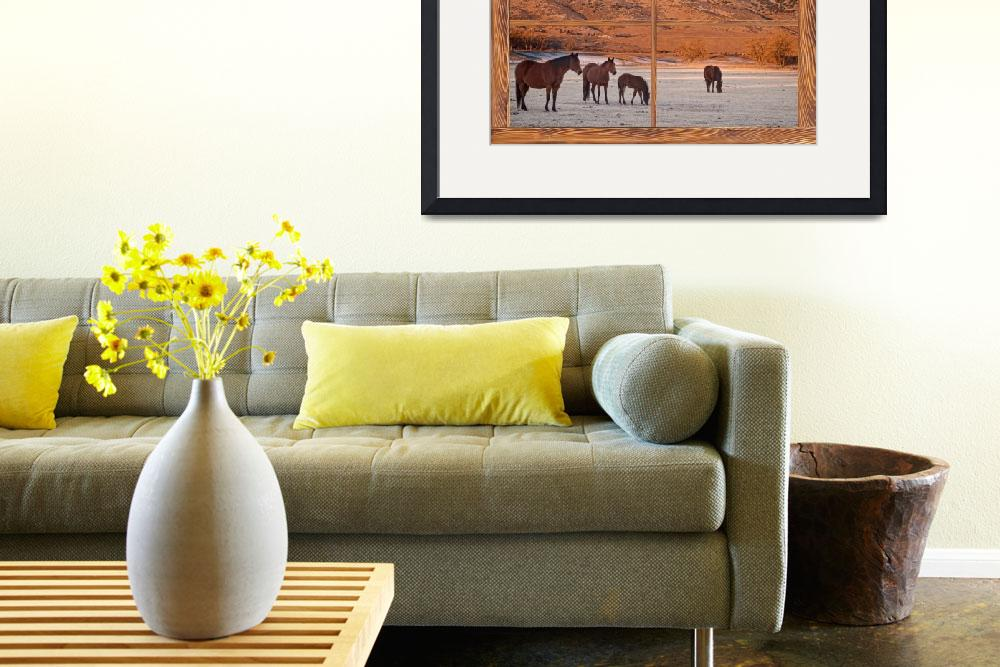 """Rocky Mountain Horses Picture Window Frame Art&quot  (2013) by lightningman"