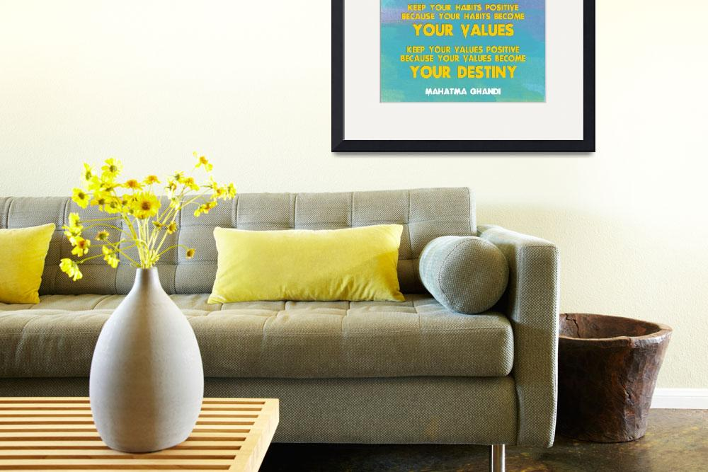 """""""Motivational Quotes - Keep your words positive - G&quot  by motionage"""
