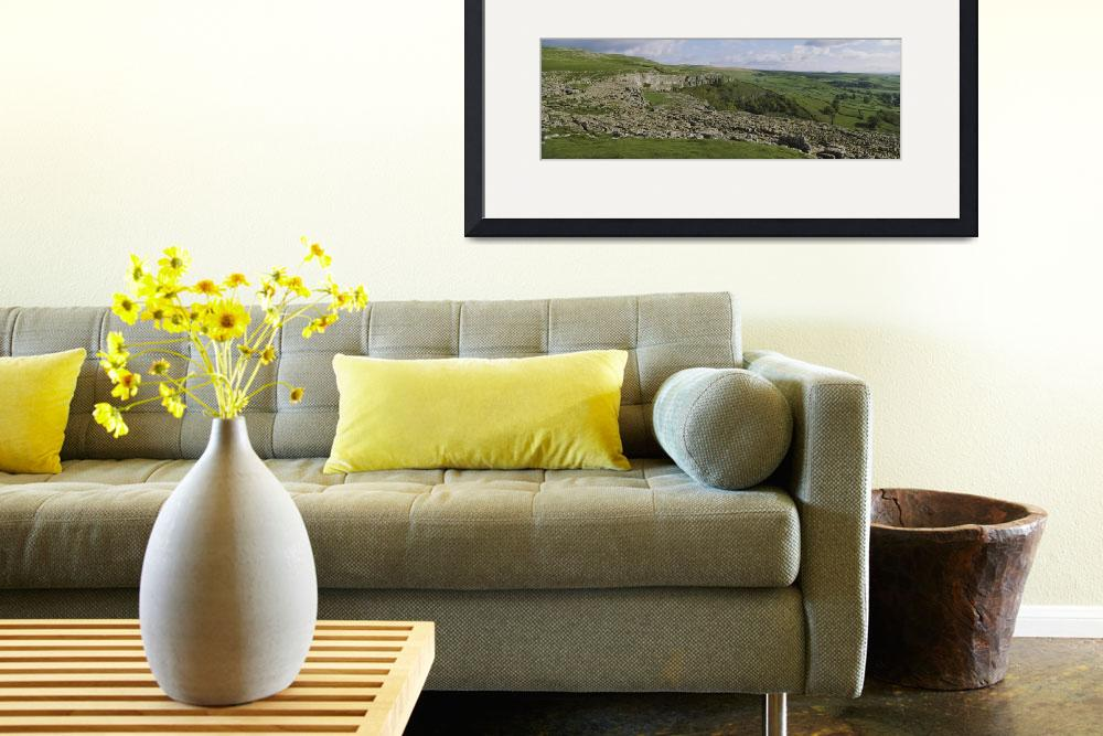 """Limestone pavement on a landscape&quot  by Panoramic_Images"