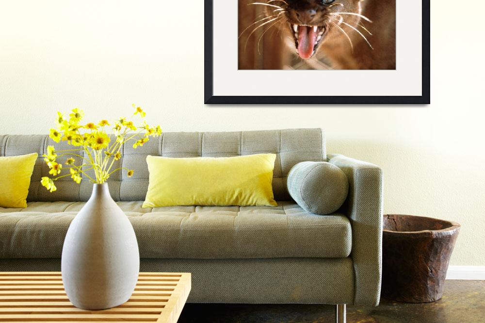 """""""Growling Wild Cat&quot  by ArtLoversOnline"""