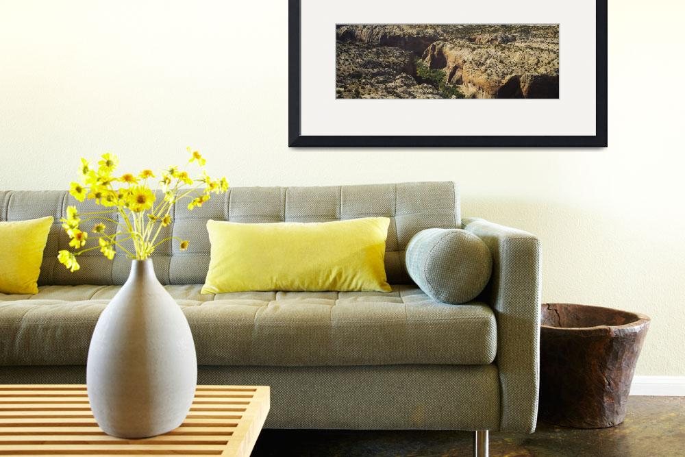"""""""High angle view of rock formations&quot  by Panoramic_Images"""