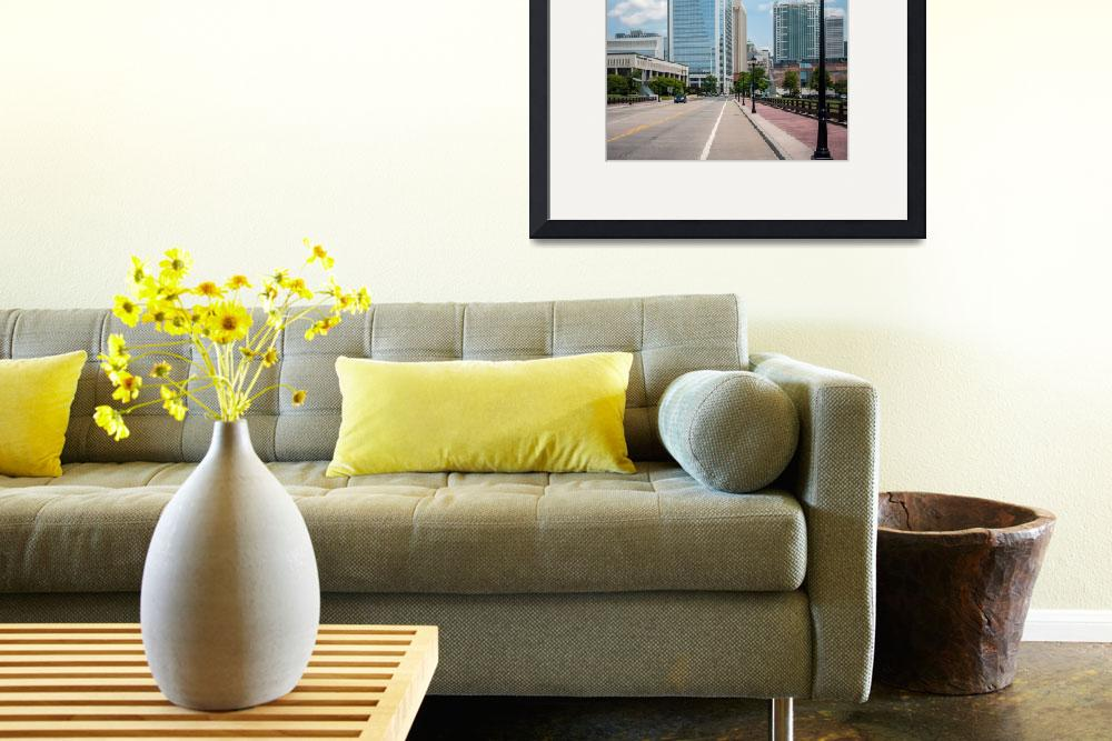 """Uptown Charlotte, North Carolina Cityscape&quot  by digidreamgrafix"