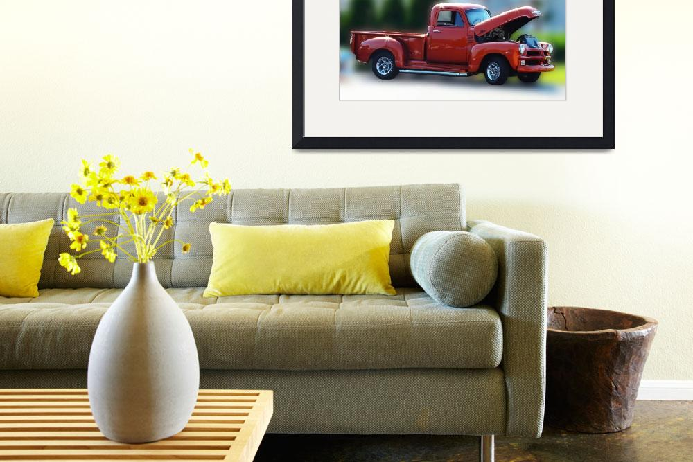 """""""Red vintage truck&quot  by RodicaNelson"""