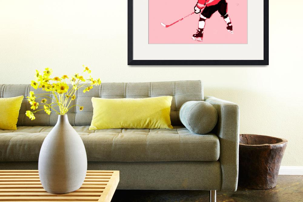 """""""Hockey Center pink gray red black (c)&quot  (2014) by edmarion"""