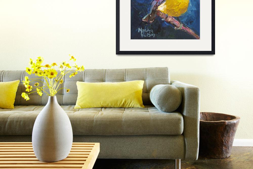 """""""Yellow Breasted Warbler""""  (2010) by normawilsonfineart"""