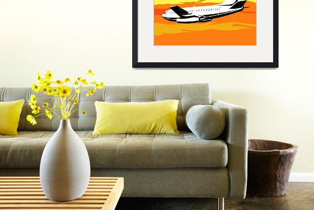 """commercial jet plane airliner flying&quot  (2013) by patrimonio"