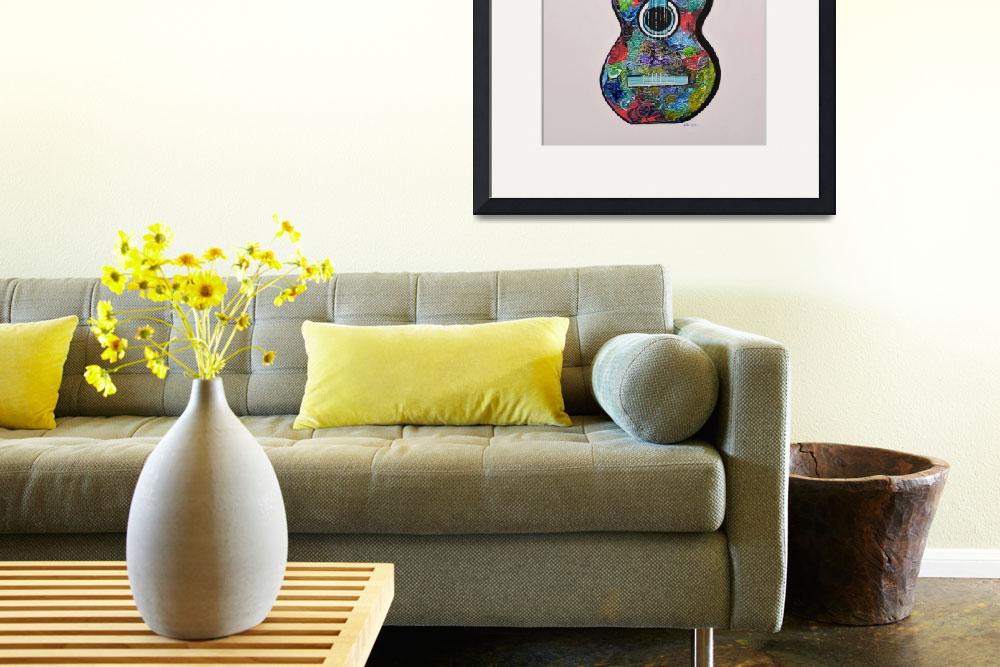 """""""Colorful Guitar Painting by Manjiri Kanvinde&quot  (2015) by mkanvinde"""
