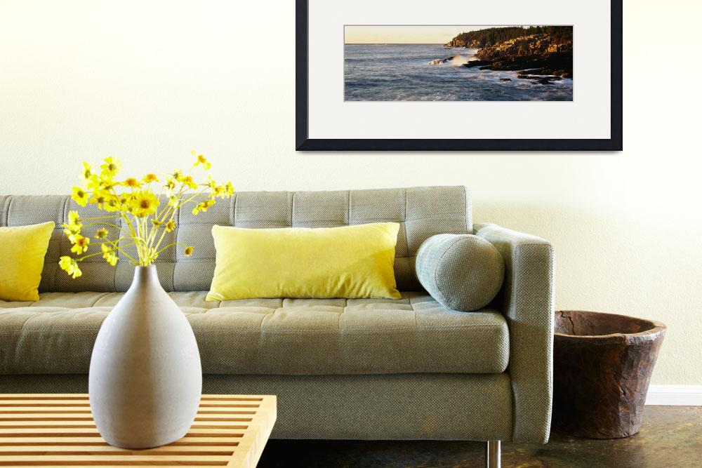 """""""Waves breaking against the rocks&quot  by Panoramic_Images"""