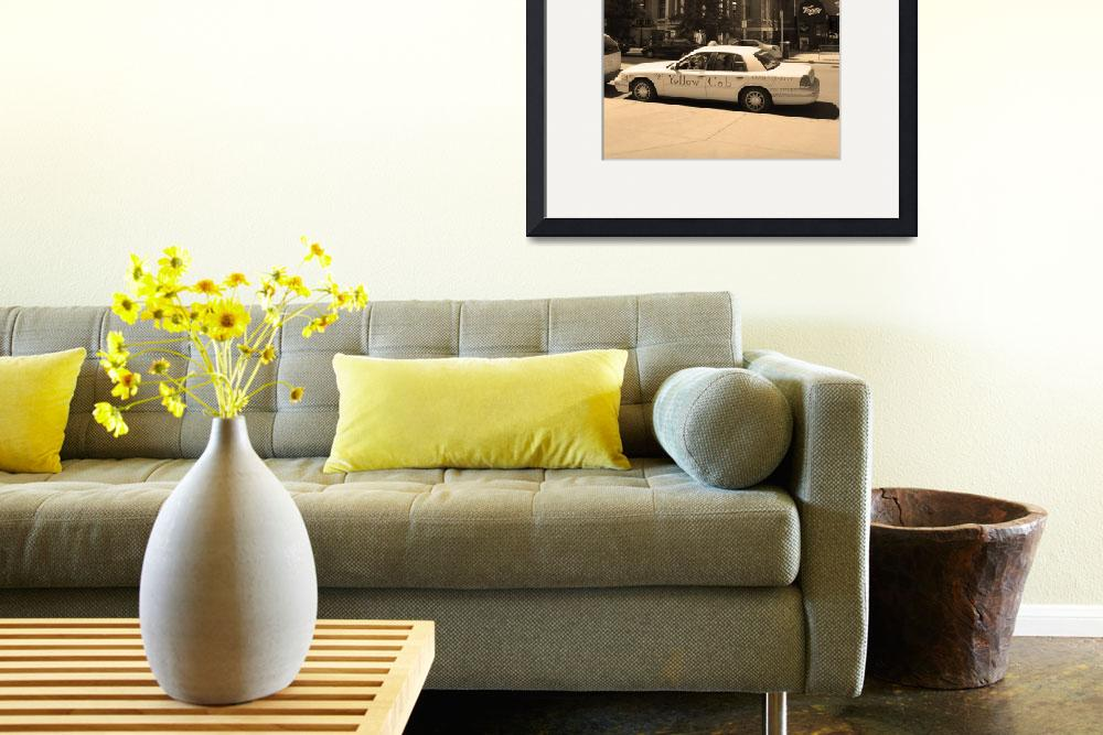 """""""Denver Downtown with Yellow Cab&quot  (2005) by Ffooter"""
