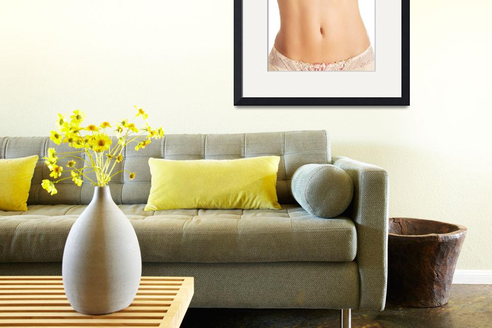 """""""Fit and slim young woman belly&quot  by Piotr_Marcinski"""