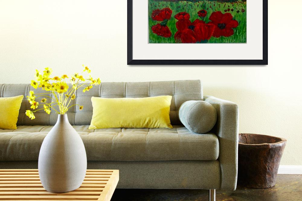 """""""North Carolina Poppies In The field&quot  (2009) by scrapydapy"""