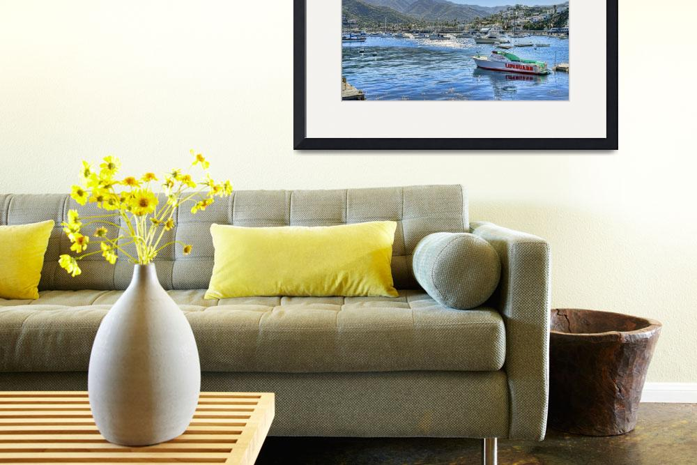 """""""Catalina Island Harbor&quot  (2011) by pauldomsten"""