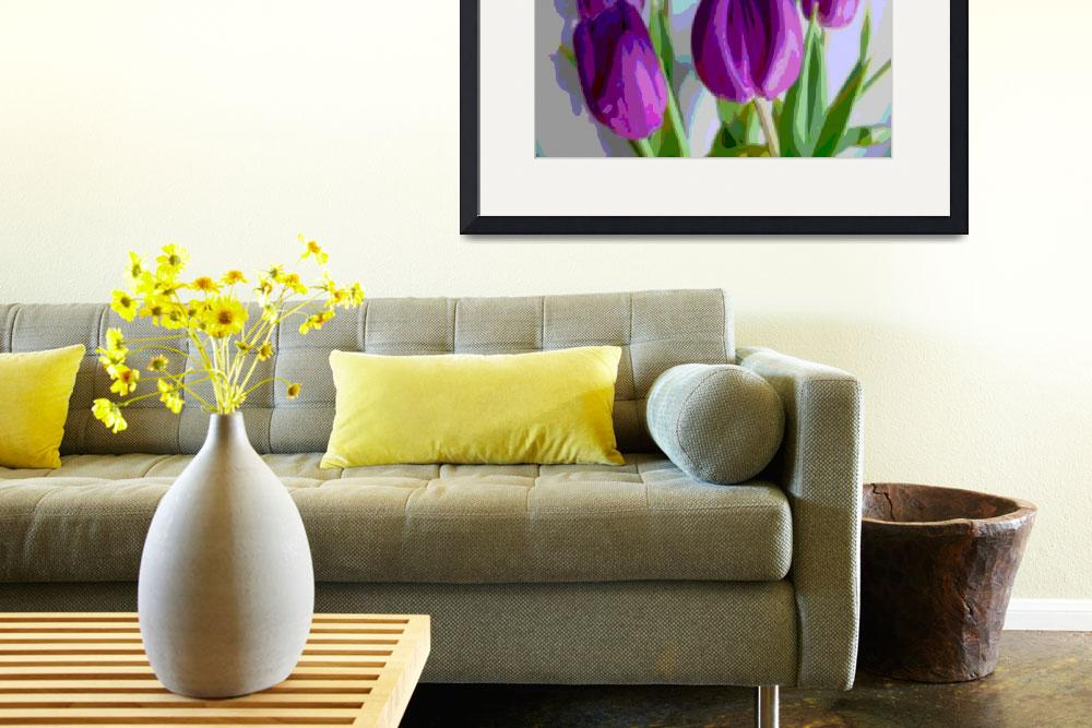 """""""Violet Tulips IV""""  (2014) by TheNorthernTerritory"""