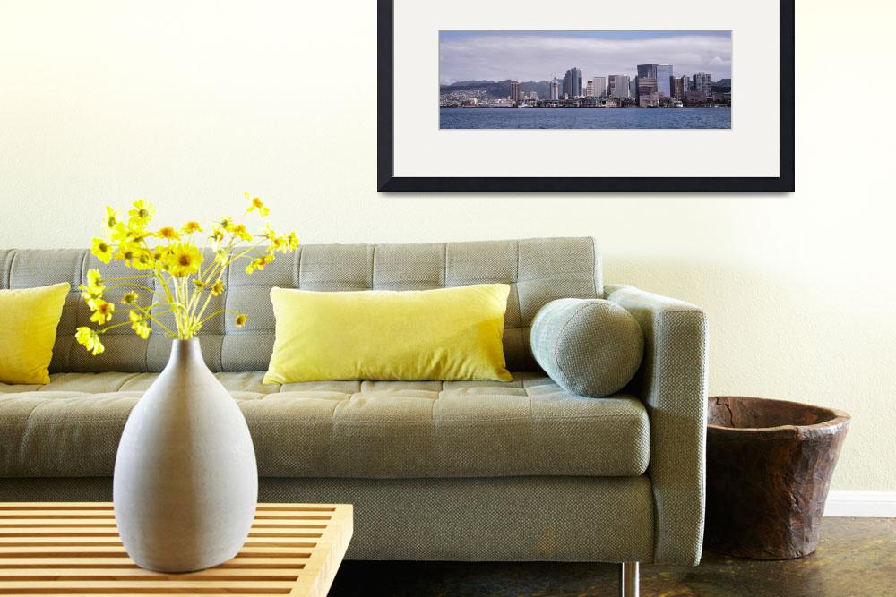 """""""Downtown Honolulu skyline Oahu HI&quot  by Panoramic_Images"""
