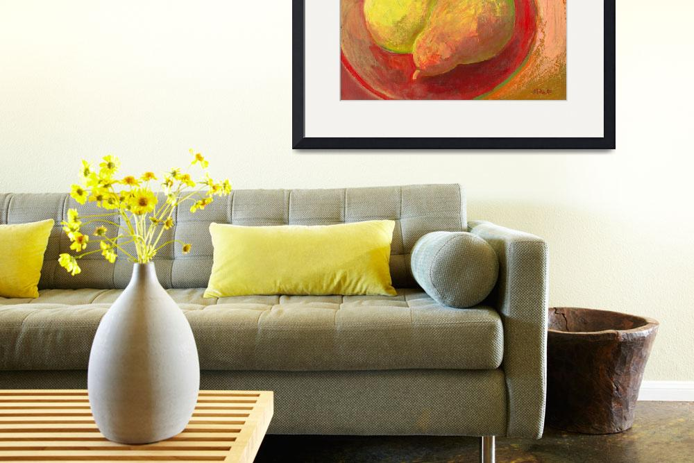 """""""Two Pears in Repose&quot  (2009) by JENLO"""