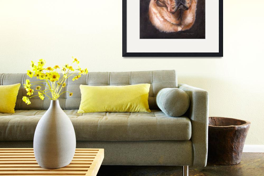 """""""Yellow Labrador Dog Portrait Painting&quot  (2012) by DogsandFlowers"""