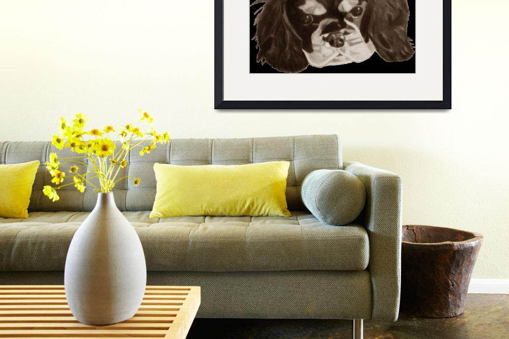 """""""Cavalier King Charles Spaniel Puppy in SEPIA""""  (2009) by CavalierArt"""