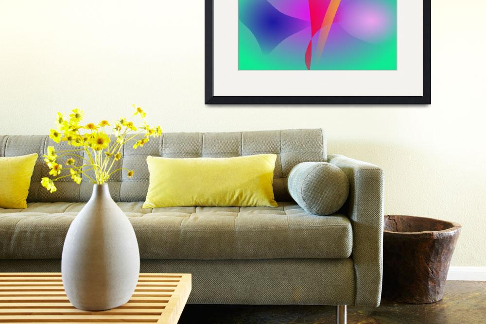 """""""Hazy Green Colorful Abstract Art""""  (2014) by masabo"""