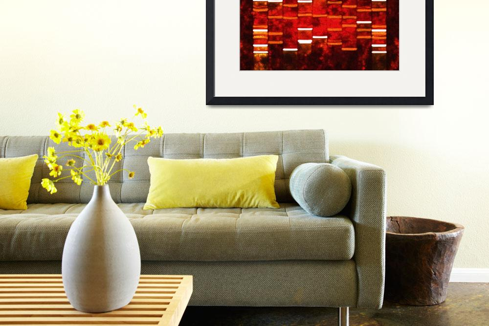 """""""Abstract Red DNA Art Paintings on Canvas&quot  (2010) by DNAartonline"""