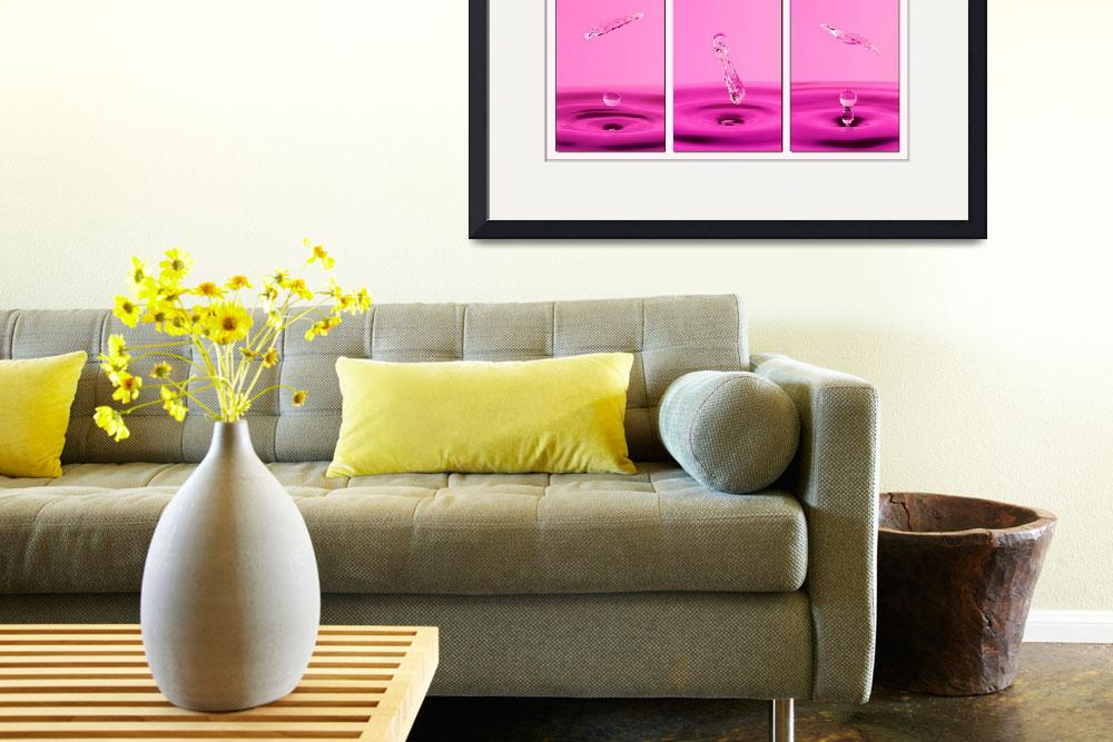 """""""Pink Water Triptych&quot  (2008) by alicegosling"""