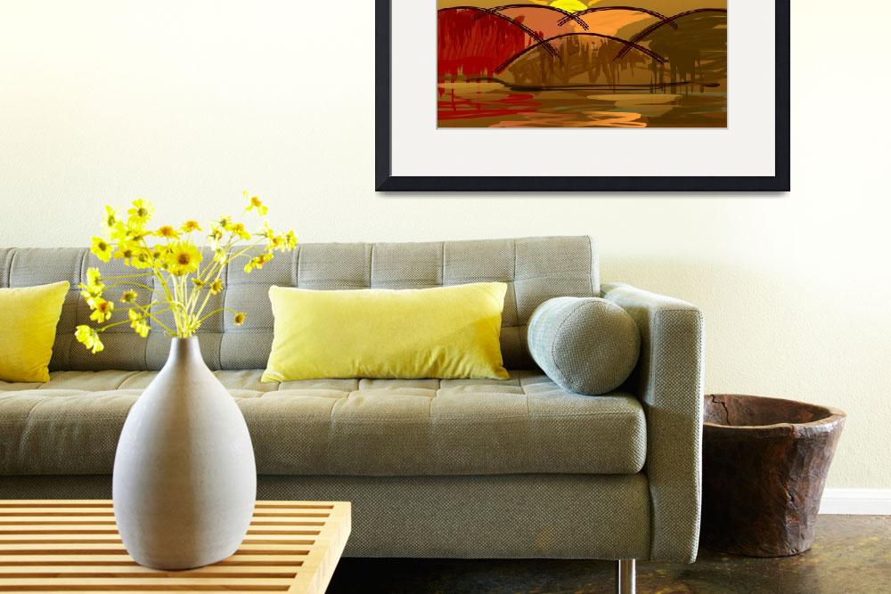 """""""sun in colour background&quot  (2009) by digitalpainting"""