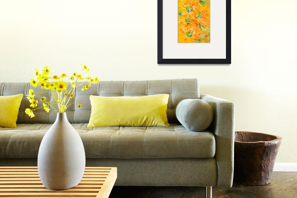 """Textured Yellow Sunflowers&quot  (2008) by nadinerippelmeyer"