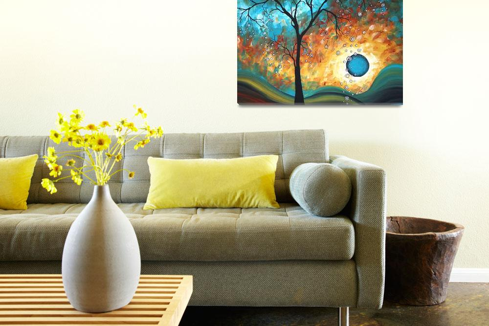 """""Aqua Burn"" Original Painting&quot  by meganduncanson"