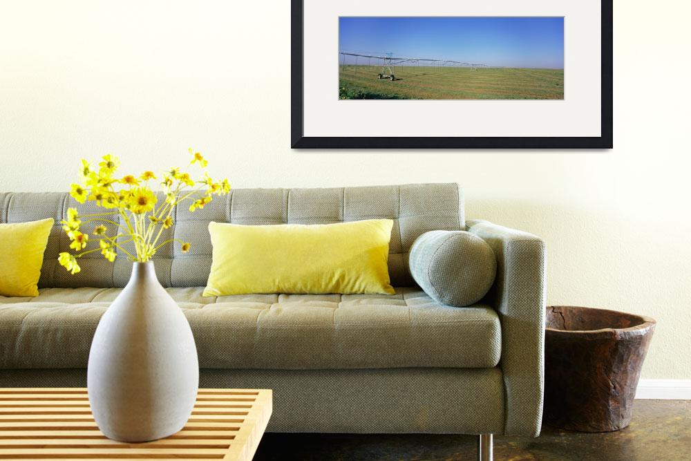 """""""Irrigation in an alfalfa field""""  by Panoramic_Images"""