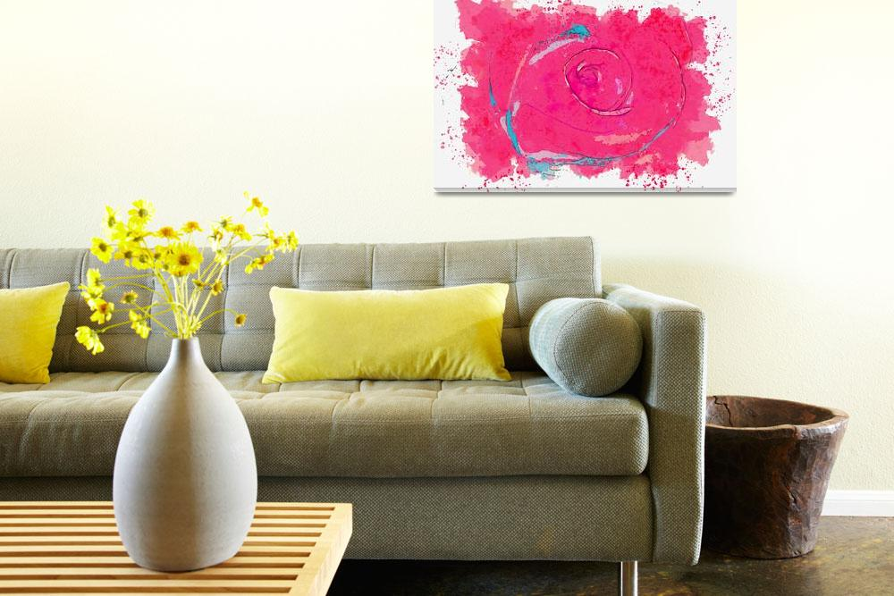 """""""Rose red -  watercolor by Adam Asar""""  by motionage"""