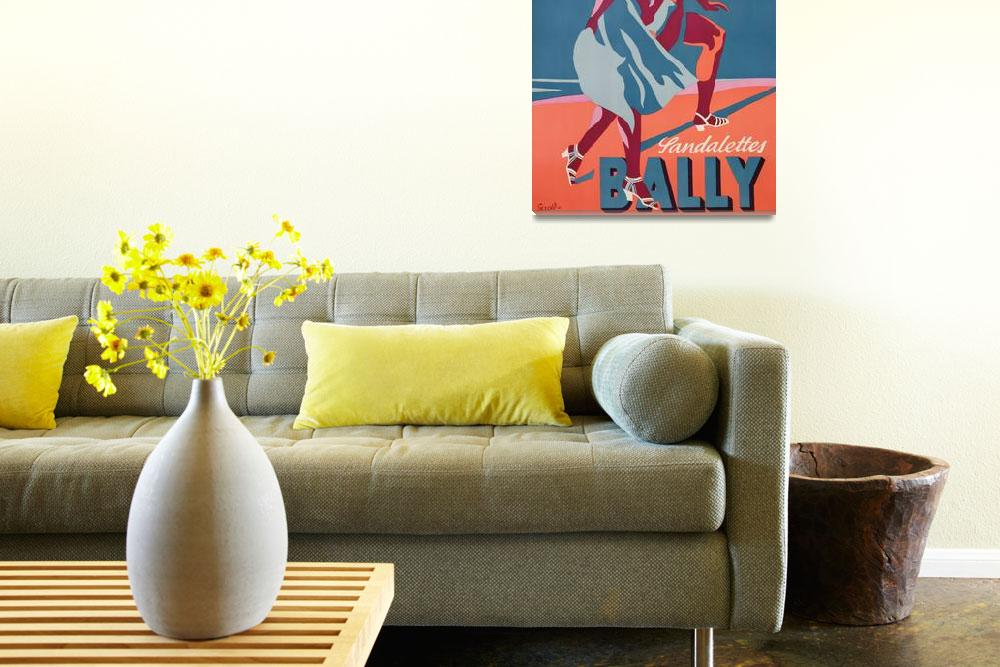 """""""Advertisement for Bally sandals, 1935""""  by fineartmasters"""