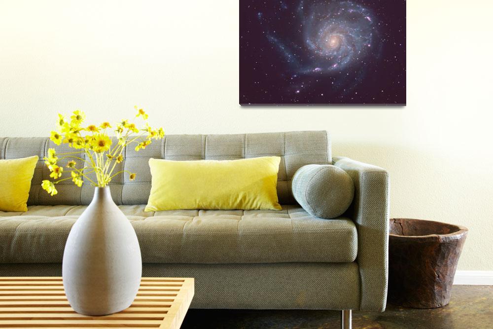 """M101 Spiral Galaxy&quot  (2017) by joerenzetti"