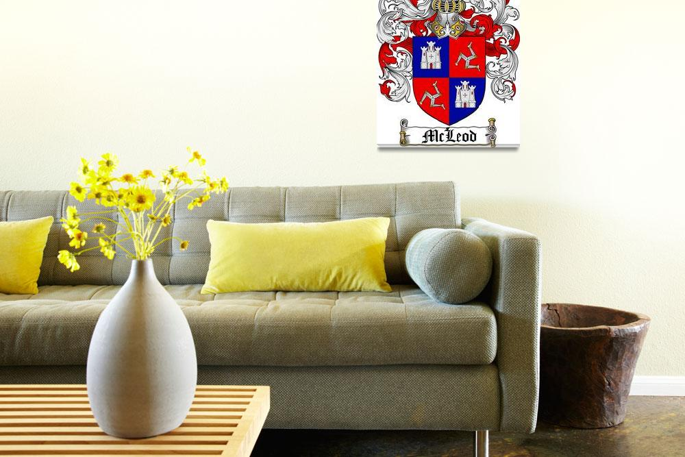"""MCLEOD FAMILY CREST - COAT OF ARMS&quot  by coatofarms"