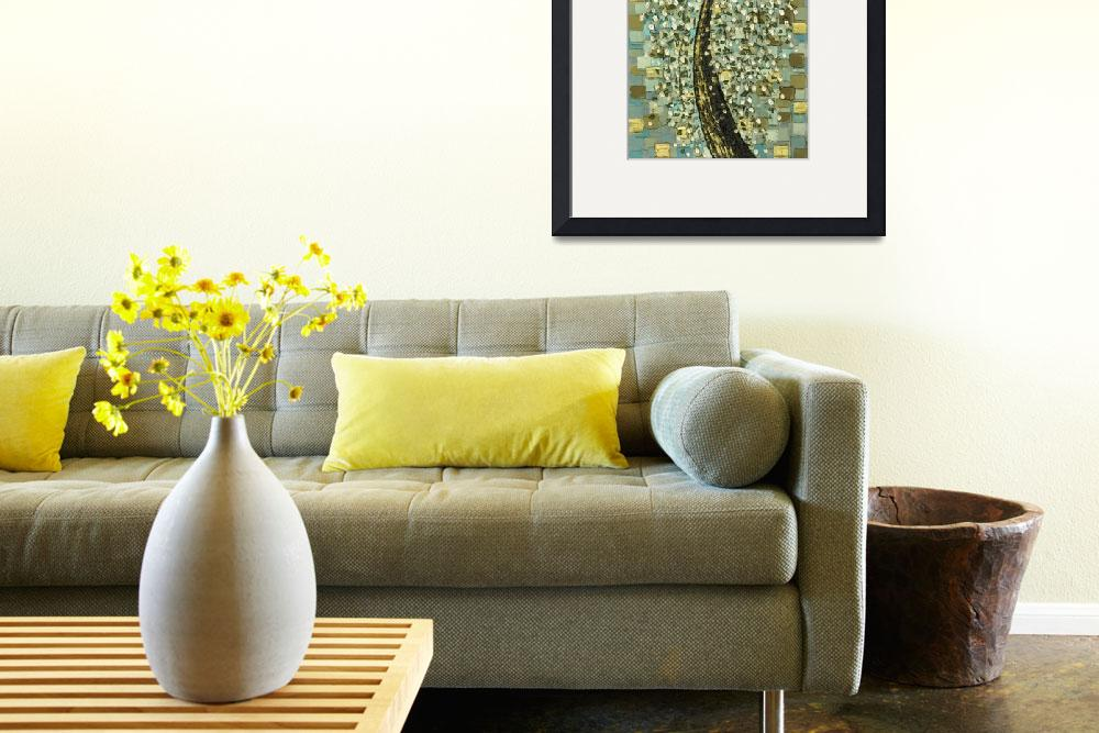 """""""Weeping White Cherry Blossom Tree - vintage style""""  (2009) by modernhouseart"""