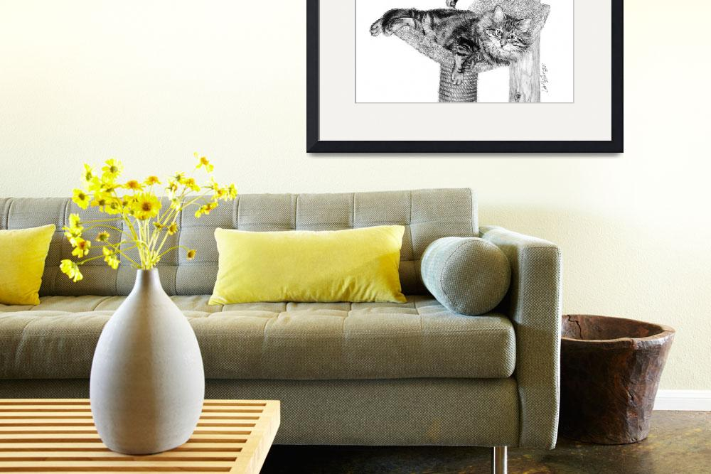 """""""Maine Coon Cats&quot  (2004) by evansonart"""