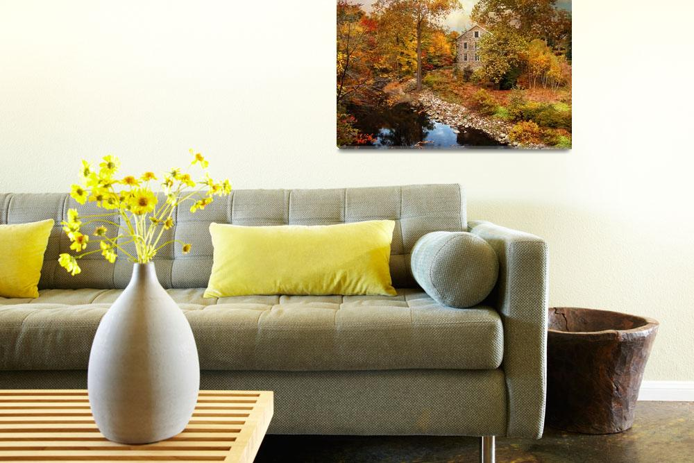 """""""Stone Mill in Autumn""""  (2013) by JessicaJenney"""