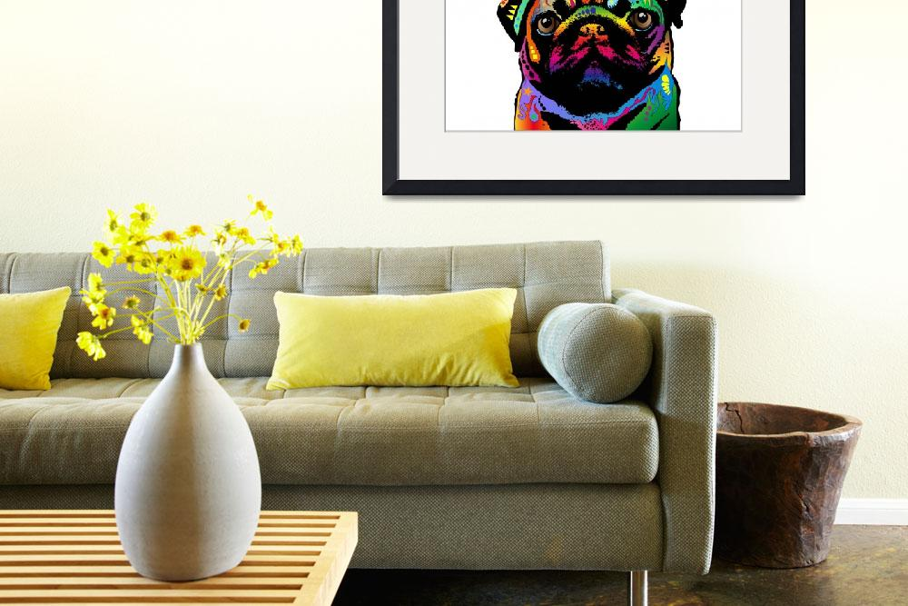 """Pug Dog&quot  (2013) by ModernArtPrints"