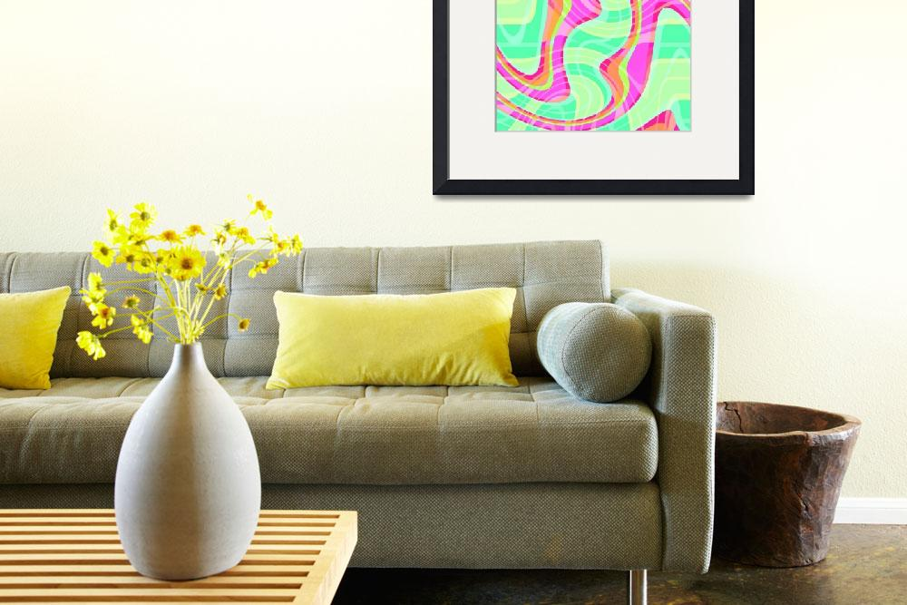 """Crazy Waves (digital) by Louisa Knight""  by fineartmasters"