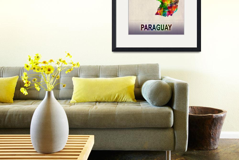 """""""Paraguay Map""""  by Towseef"""