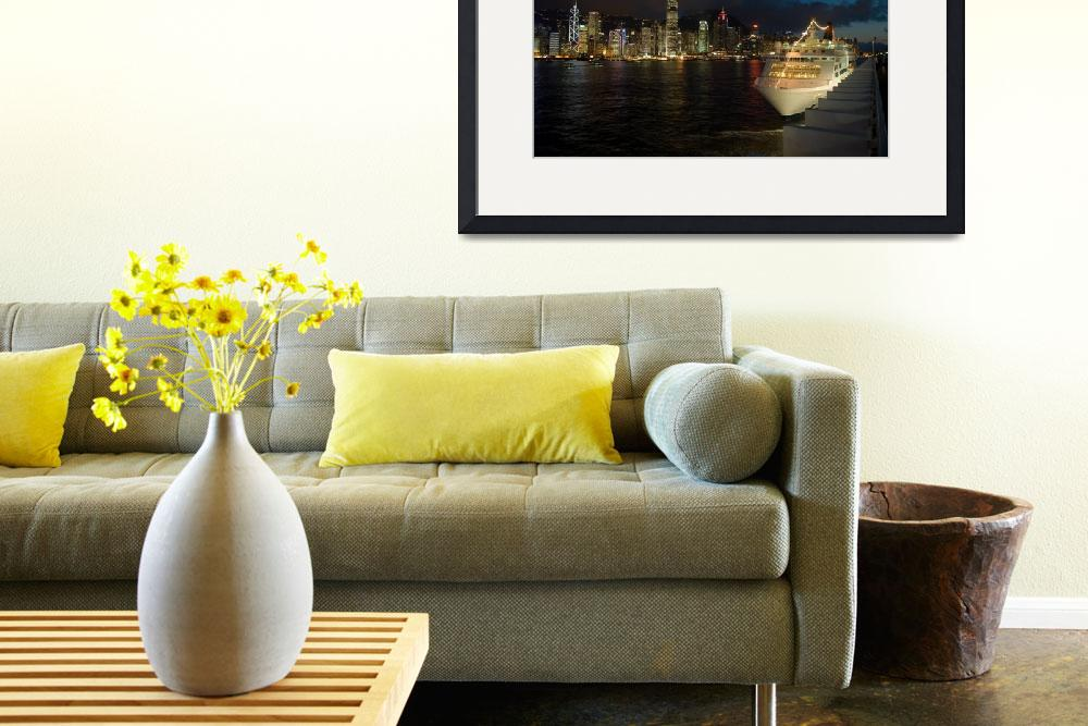 """""""The Hong Kong skyline as seen from Kowloon""""  by msimons"""