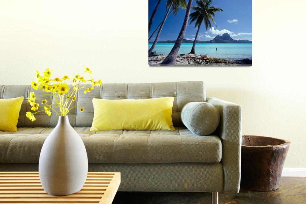 """""""French Polynesia, Tahitian Coast Scene, Lovely Wom&quot  by DesignPics"""