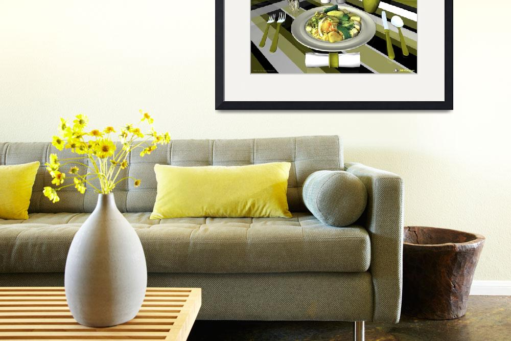 """""""Culinary Art Decor Entrée - Vegetarian Indian and&quot  by 3D-Cuisines"""