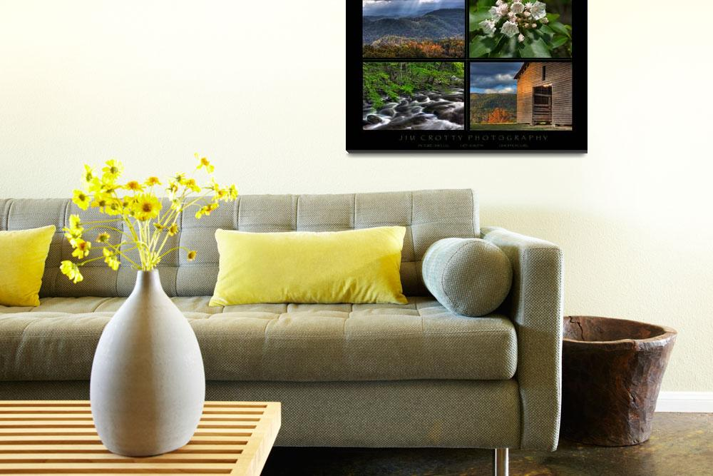 """""""Smoky Mountains Four Image Poster Print&quot  (2009) by jimcrotty"""